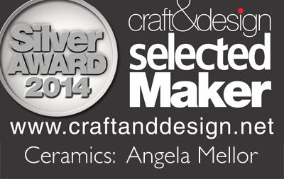 Angela Mellor wins Silver in the Ceramics in the craft&design Selected Maker Awards 2014