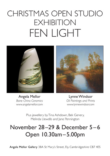 Angela Mellor's Studio will be Open November 28-29 and December 5-6